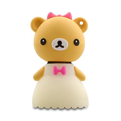 818-TEch no10700060008 Hi-Speed 2.0 USB PenDrive 8GB sposa matrimonio Teddy 3D beige