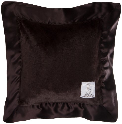 "Little Giraffe Luxe Pillow, Chocolate, 14"" x 14"""