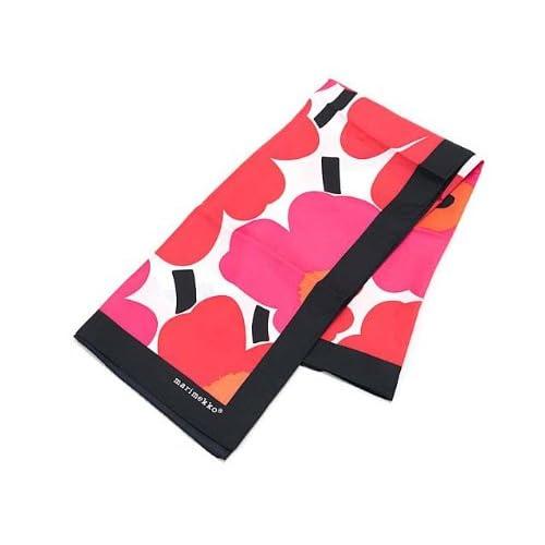 (マリメッコ) Marimekko 37241 POPPIES スカーフ 001 White/Red [並行輸入品]