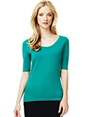 Autograph Supima® Cotton Plain Top
