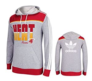 Adidas Miami Heat Adult Lightweight Pullover Hooded Sweatshirt by adidas