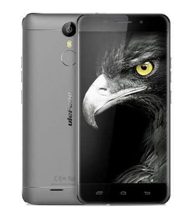 New Sortie Ulefone Métal - Android 6.0 Corning Gorilla 3 écran 5.0 pouces 4G Smartphone 3Go RAM Octa base d'empreintes digitales Scanner GPS OTG Bluetooth 4.0 - gris