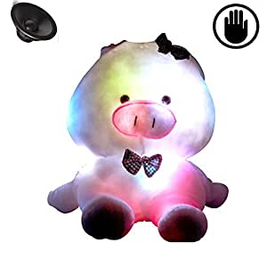 Amazon.com: Glovion Cute Big Pig Shape LED Light up Pillow Glowing Illumination Cushion with ...