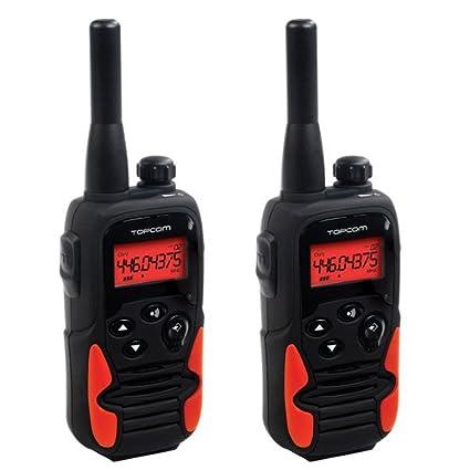TOPCOM RC6405 Talkie walkie Twintalker 9500 Long Range Portée jusqu'à 10 km 8 Canaux, 121 Sous-canaux