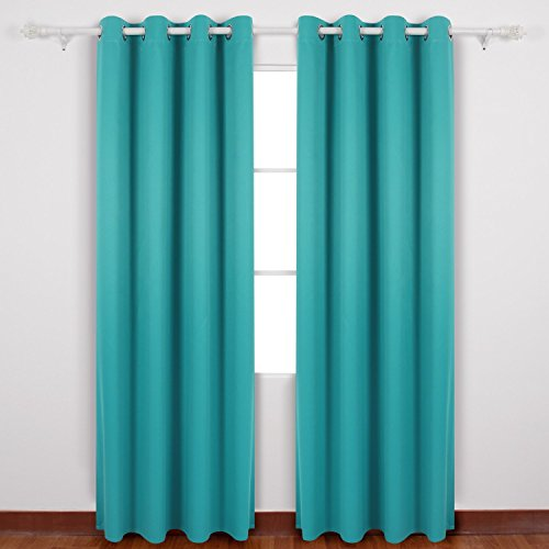 Deconovo Grommet Thermal Insulated Blackout Curtains With Silver Coating