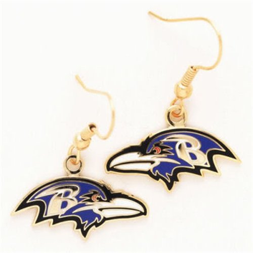 Baltimore Ravens Dangle Earrings at Amazon.com