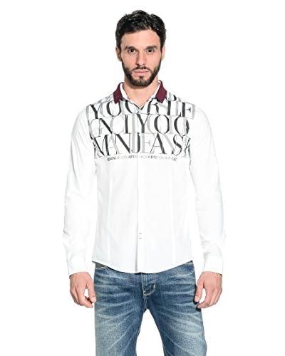Armani Jeans Camicia Uomo A6C77-Vm 10 [Bianco]