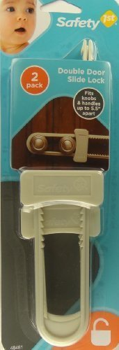 Safety 1st Double Door Slide Lock. 2 Pk