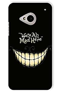 IndiaRangDe Printed Back Cover For HTC One M7 Black