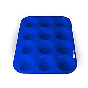 Domestic Corner - Silicone Muffin Pan - 12 Cup - Blue