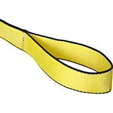 Mazzella EE1 Edgeguard Polyester Web Sling, Eye-and-Eye, Yellow, 1 Ply, Flat Eyes, Vertical Load Capacity