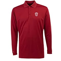 Indiana Long Sleeve Polo Shirt (Team Color) by Antigua