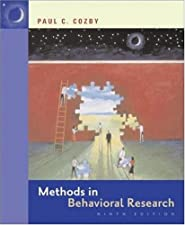 Methods in Behavioral Research by Paul Cozby