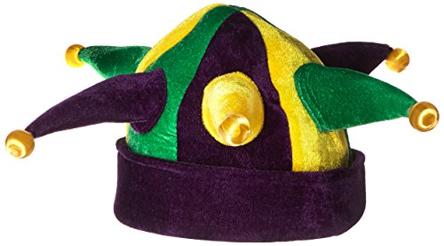Jacobson Hat Company Women's Velvet Light-Up Jester, Mardi Gras, Adult