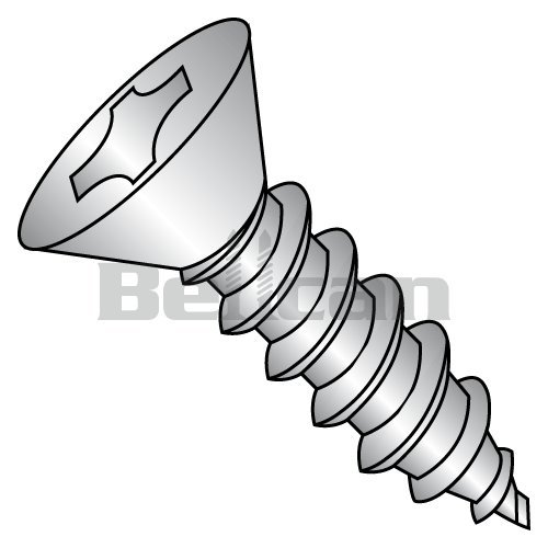 "50-Moulding Clip SCREWS Steel Phillips Flat Head #4-24 X 3//8/"""