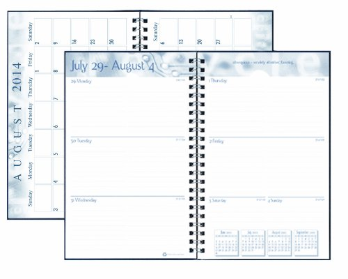 House Of Doolittle Academic Weekly Planner, Student Assignment Book 13 Months August 2014 To August 2015, 5 X 8 Inches, Dot Design Recycled Materials Made In The Usa (Hod274Rtg57)