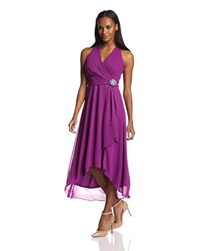Chetta B Women's Chiffon High/Low Dress