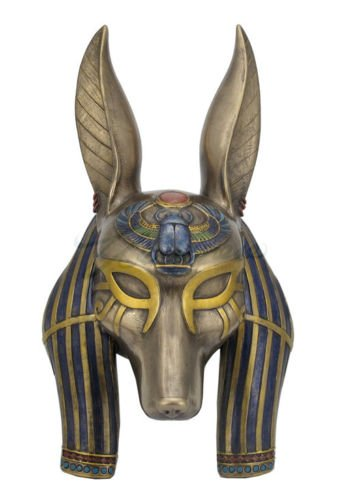 Anubis Mask Egyptian Wall Plaque Sculpture