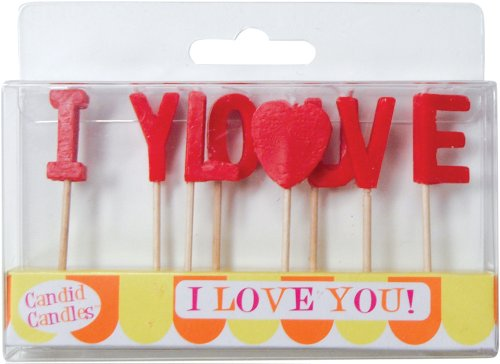 Party Partners Design Candid Candles: I Love You, Red - 1