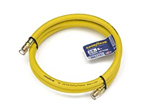 Goodyear EP 46511 3/8-Inch by 6-Feet 250 PSI Lead-In Rubber Air Hose with 1/4-Inch MNPT Ends