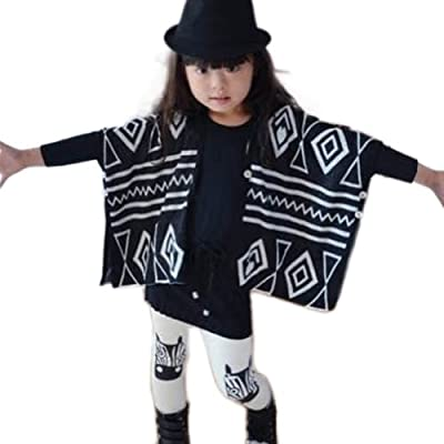 Little Wardrob Unisex-Baby Knitted Wool Mix Cape Sweater Shawl And Leggings