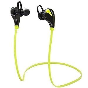 Vansky VS-BHS02 - Auriculares Bluetooth estéreo Auriculares inalambricos Deporte / CVC Cancelación de ruido 6.0 / Resistentes al Sudor con Micrófono incorporado para iPhone, iPad, Samsung y Otros Android Teléfonos , Color Verde