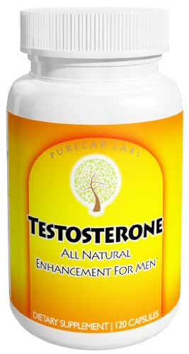 PureCap Labs Testosterone, All Natural Blend with Tribulus and more! 1 Month Supply!