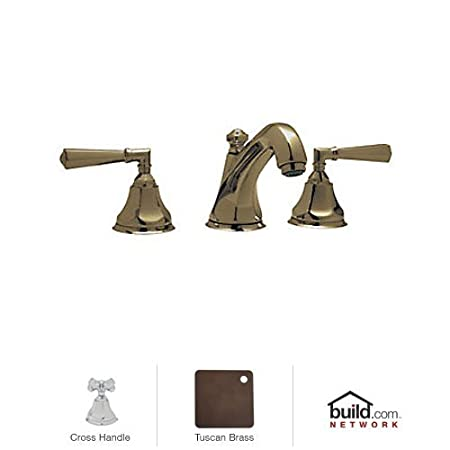 Rohl A1908XMTCB-2 Palladian Widespread Bathroom Faucet with Pop-Up Drain and Metal, Tuscan Brass