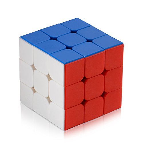 Newisland ® 3 × 3 × 3 speed cube 3D puzzle comes with 3D cube pop prevention solid cube smooth rotating cube competition puzzle cube world scheme six-sided completed cheats standard (LBL method)