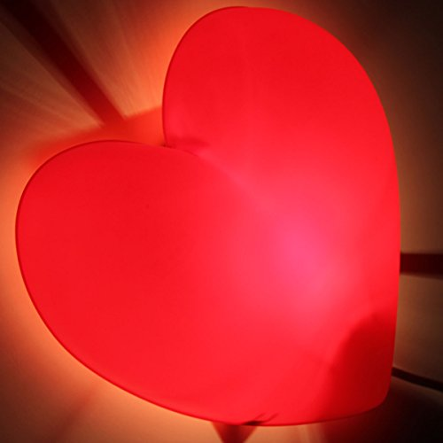 Children's Red Heart Wall Lamp, Bulb Is Included - 1