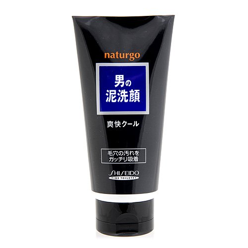 ナチュルゴ メンズクレイ洗顔フォーム 黒 130g