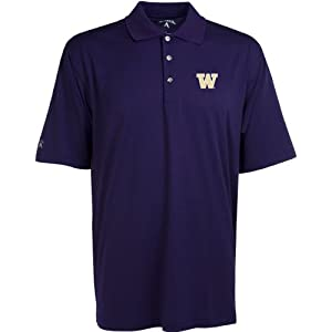 Antigua Mens Washington Huskies Phoenix Desert Dry Moisture Management Pointell by Antigua