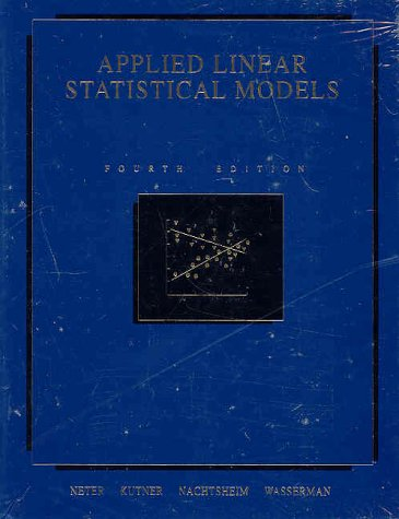 Applied Linear Statistical Models (General Linear Model compare prices)