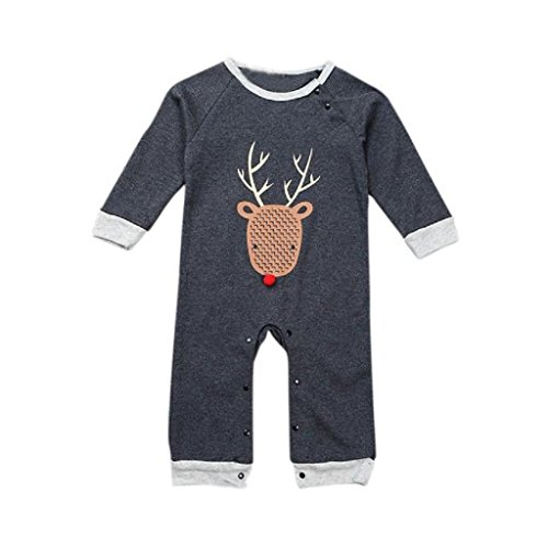 2016 Baby Boys Girls Elk Romper - SUPPION Christmas Jumpsuit Bodysuit Clothes Outfits (18M)