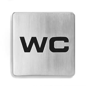 """Blomus Signo / 68206 Plaque pour porte """" WC"""""""