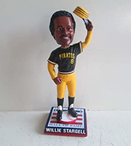 Willie Stargell Pittsburgh Pirates Cooperstown Collection HOF Logo Base Bobble Head by My Sports Shop
