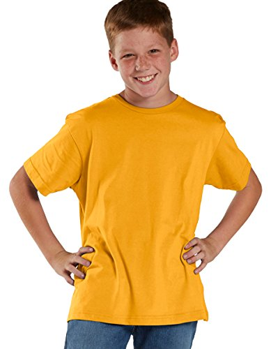 Lat Youth Fine Jersey T-Shirt (Gold) (L)