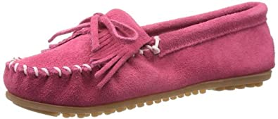 Minnetonka Women's Kilty Moccasin,Pink,6 M US