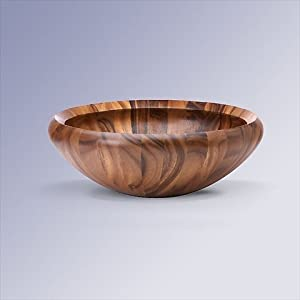 Dansk Wood Classics 16-Inch Round Salad Bowl by Dansk