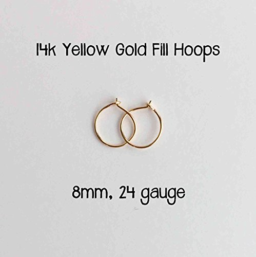 everyday-hoop-earrings-14k-yellow-gold-fill-8mm-24-gauge-handmade