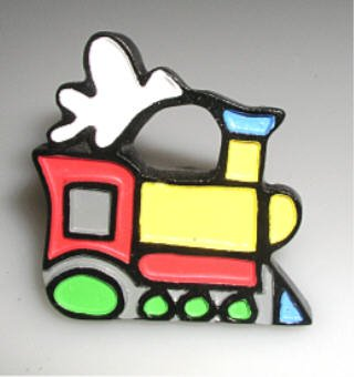 SET OF 4 four Choo Choo Train Cabinet Knobs Engine Drawer Pulls Thomas Child's Room Home Tank Furniture Decor Trains