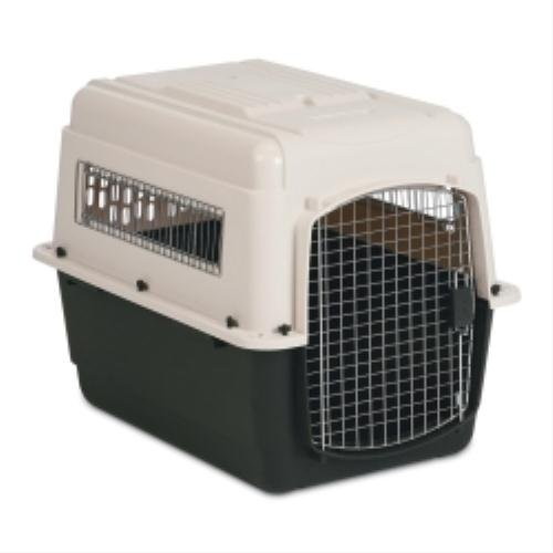 Intermediate Vari Ultra Fashion Dog Kennel in Bleached Linen and Black
