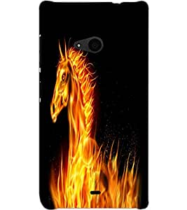 MICROSOFT LUMIA 535 UNICORN Back Cover by PRINTSWAG