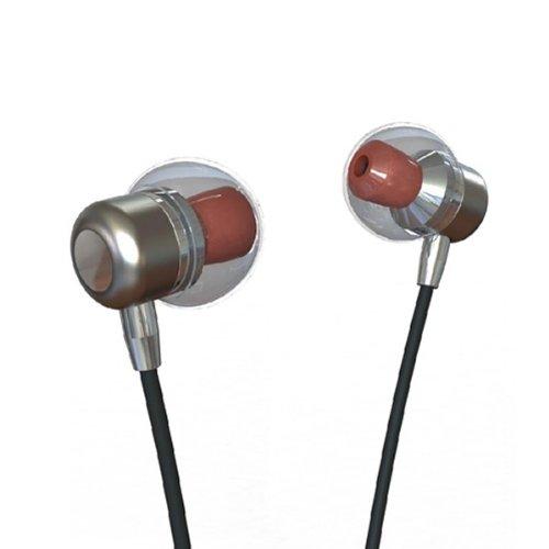 The Sharper Image Shp1101 3.5Mm Stereo Headphones - Retail Packaging - Chrome