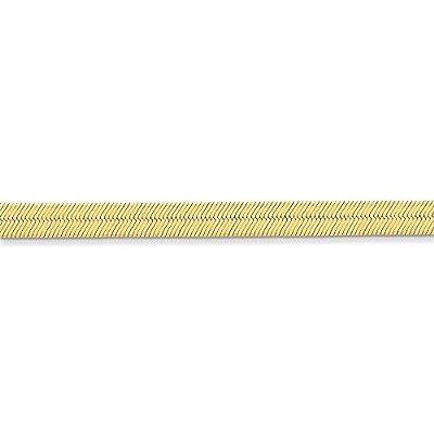 14k Gold 6.5mm Silky Herringbone Chain 7 Inches
