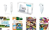 Nintendo Wii Gamers Bundle with Wii Sports, Wii Play, Carnival Games, and Namco Museum