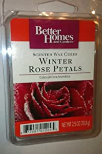 Better homes and gardens scented wax cubes winter rose petals candle melts home for Better homes and gardens wax melts