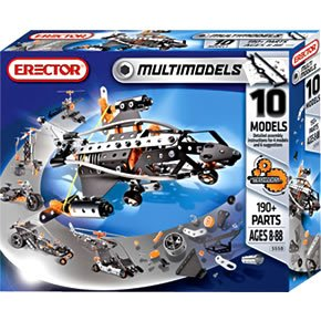 Erector Multi Model 10 Model Set - 190 Pieces