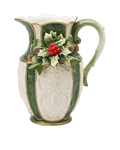 Cosmos Emerald Holiday Holly 40-Oz. Pitcher