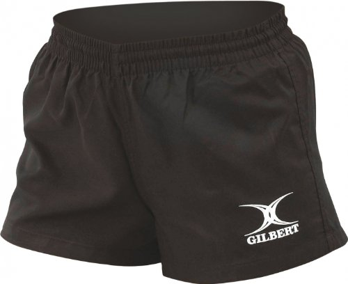 GILBERT Bok Junior Rugby Shorts , Black, Junior S